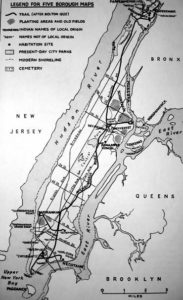 map of New York City with Lenape territories