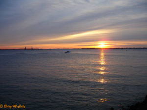 photo of sunrise over Lower New York Harbor