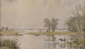 painting of Meadowlands by Jasper Francis Cropsey, 1890
