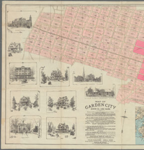 map of Garden City development, 1895