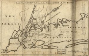 map of western Long Island showing Hempstead Plains, 1776