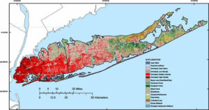 map showing Long Island land use, 2006