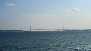 photo of Verrazano Bridge spanning breach in Harbor Hill Moraine